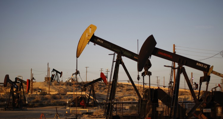 MCKITTRICK, CA - MARCH 23:  Pump jacks and wells are seen in an oil field on the Monterey Shale formation where gas and oil extraction using hydraulic fracturing, or fracking, is on the verge of a boom on March 23, 2014 near McKittrick, California. Critics of fracking in California cite concerns over water usage and possible chemical pollution of ground water sources as California farmers are forced to leave unprecedented expanses of fields fallow in one of the worst droughts in California history. Concerns also include the possibility of earthquakes triggered by the fracking process which injects water, sand and various chemicals under high pressure into the ground to break the rock to release oil and gas for extraction though a well. The 800-mile-long San Andreas Fault runs north and south on the western side of the Monterey Formation in the Central Valley and is thought to be the most dangerous fault in the nation. Proponents of the fracking boom saying that the expansion of petroleum extraction is good for the economy and security by developing more domestic energy sources and increasing gas and oil exports.   (Photo by David McNew/Getty Images)