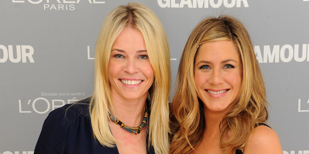 NEW YORK, NY - NOVEMBER 07:  Award winner Chelsea Handler and presenter Jennifer Aniston attend Glamour's 2011 Women of the Year Awards on November 7, 2011 in New York City.  (Photo by Dimitrios Kambouris/Getty Images for Glamour Magazine)