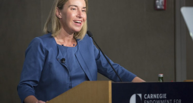 Federica Mogherini, High Representative of the European Union for Foreign Affairs and Security Policy speaks July 21, 2016 at an EU event at CarnegieEndowment for International Peace in Washington, DC.