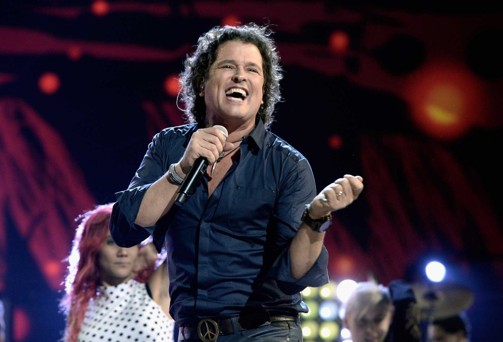 LAS VEGAS, NV - NOVEMBER 19:  Singer Carlos Vives performs onstage during rehearsals for the 14th annual Latin GRAMMY Awards at the Mandalay Bay Events Center on November 19, 2013 in Las Vegas, Nevada.  (Photo by Kevin Winter/WireImage)